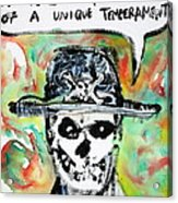 Skull Quoting Oscar Wilde.1 Acrylic Print