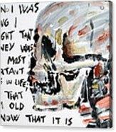 Skull Quoting Oscar Wilde.3 Acrylic Print