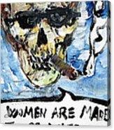 Skull Quoting Oscar Wilde.6 Acrylic Print