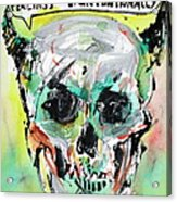 Skull Quoting Oscar Wilde.8 Acrylic Print