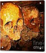Skulls In The Paris Catacombs Acrylic Print