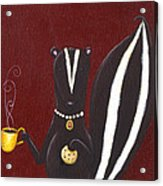 Skunk With Coffee Acrylic Print
