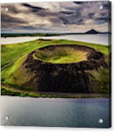 Skutustadagigar Pseudo Craters, Lake Acrylic Print