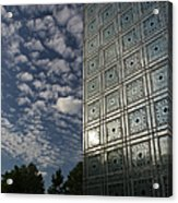 Sky And Building Acrylic Print by Gary Eason