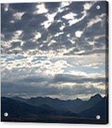 Sky And Mountains Acrylic Print