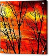 Sky Is Burning Acrylic Print