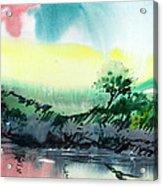 Sky N Lake Acrylic Print