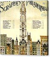 Sky Scrapers Of Philadelphia 1896 Acrylic Print