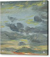 Sky Study, Sunset, 1821-22 Acrylic Print