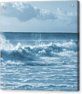 Sky -waves -water- Clouds  In Blue Acrylic Print