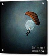 Skydiver's Moon Acrylic Print