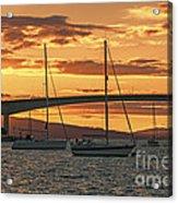 Skye Bridge Sunset Acrylic Print