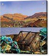 Skye Fishing Pots Acrylic Print