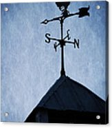 Skyfall Deer Weathervane  Acrylic Print by Edward Fielding