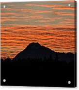 Skyfire Over The Olympic Mountains Acrylic Print