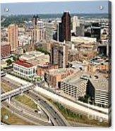 Skyline Aerial Of St. Paul Minnesota Acrylic Print