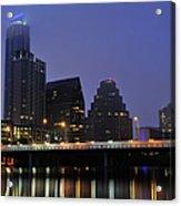 Skyline And Bridge In Austin Acrylic Print