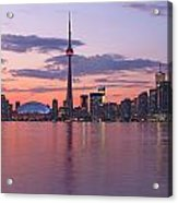 Skyline At Dusk From Centre Island Acrylic Print