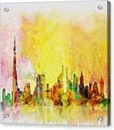 Skyline Collage  Acrylic Print