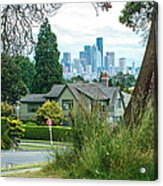 Skyline From Magnolia 2 Acrylic Print