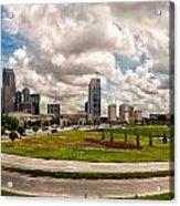 Skyline Of Charlotte Towers Acrylic Print