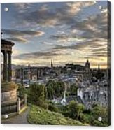 Skyline Of Edinburgh Scotland Acrylic Print