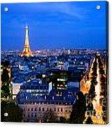 Skyline Of Paris Acrylic Print