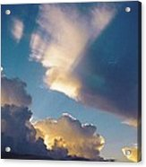 Skyscape - Puffy White Clouds Acrylic Print