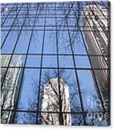 Skyscraper Reflections - Charlotte Nc Acrylic Print by Shelia Kempf