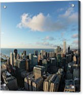 Skyscrapers In A City, Chicago, Cook Acrylic Print