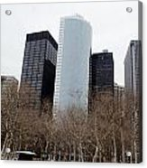 Skyscrapers Of The Battery Acrylic Print