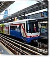 Skytrain Carriage Metro Railway At Nana Station Bangkok Thailand Acrylic Print