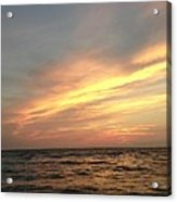 Slanted Setting Acrylic Print by K Simmons Luna