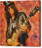 Slash Shredding On Guitar Acrylic Print