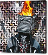 Slaves Of Technology Acrylic Print by Larry Butterworth