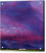Slc Sunset Panorama Acrylic Print