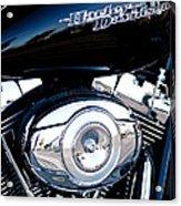Sleek Black Harley Acrylic Print by David Patterson