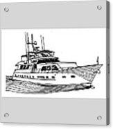 Sleek Motoryacht Acrylic Print