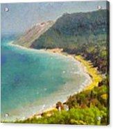Sleeping Bear Dunes Lakeshore View Acrylic Print