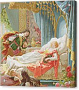 Sleeping Beauty And Prince Charming Acrylic Print