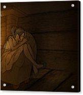 Sleeping By The Fireside Acrylic Print