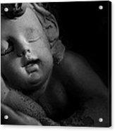 Sleeping Cherub #1bw Acrylic Print