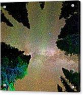 Sleeping Under The  Milky Way Stars Acrylic Print