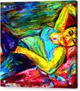 Sleeping Woman Acrylic Print