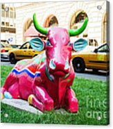 Cow Parade N Y C 2000 - Sleepy Time Cow Acrylic Print