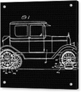 Sleigh Attachment For Motor Vehicles Support Patent Drawing From 1926 2 Acrylic Print