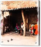 Slice Of Life Mud Oven Chulha Tandoor Indian Village Rajasthani 1b Acrylic Print