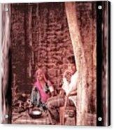 Slice Of Life Mud Oven Chulha Tandoor Indian Village Rajasthani 1c Acrylic Print
