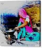 Slice Of Life Mud Oven Chulha Tandoor Indian Village Rajasthani 2 Acrylic Print
