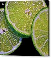 Sliced Limes Acrylic Print
